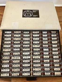 Dentsply Trubyte IPN Tooth Stock in 2 Drawer Cabinet