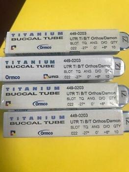 *New* Ormco Maxillary Buccal Titanium Tube L7L 2Nd Molar .022 Slow, -10 Tq, 0 An