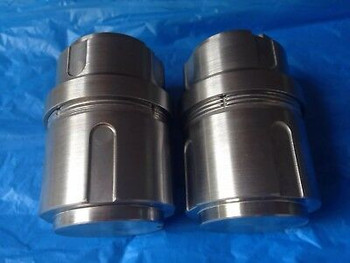 2 GRINDING JARS for RETSCH MM 400 MM400 QIAGEN TISSUELYSER II MILL MIXER BALLS #