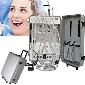 4H Dental Delivery Unit Case With Curing Light Scaler Compressor Saliva Ejector