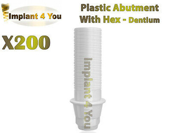 200X Dental Dentium ?« Plastic Abutment With Hex + Screw Regular Platform