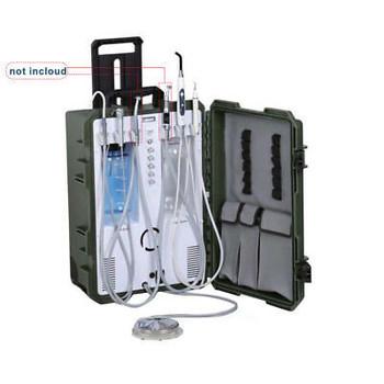 2Hole Portable Dental Suitcase Turbine Unit W Compressor Scaler Curing Syringe