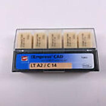 Dental Ivolcar Vivadent Ips Empress Cad For Cerec Inlab Lt A2 C 14  1Set=5Blocks