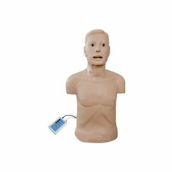 Adult Cpr And Intubation Training Manikin Half-Body With Monitor