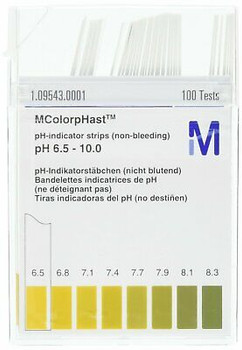 Emd Millipore Mcolorphast 1.09543.0001 Non-Bleeding Ph-Indicator Strip 6.5-10...