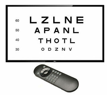 Cos Visual Acuity System With 24 Hd Led Tv