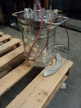 1.5 L Jacketed Filter Reactor, Jacketed Chemical Reactor, Glass Reaction Vessel