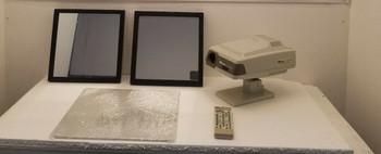 Marco Cp 670 Auto Projector, Remote, Screen, Mirror Set