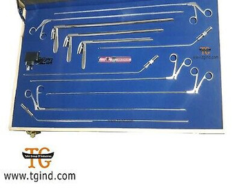 New Band Bronchoscope Rigid Set Of Three Size With Fibe Surgical Instruments Set
