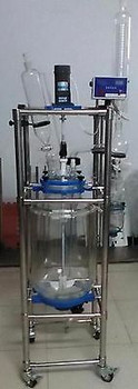 10L  Jacket Chemical Reactor, Glass Reaction Vessel