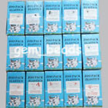 100 Box Dental Ortho Rubber Band Elastics Latex Brace 15 Size Choose 5,000Pc/Box