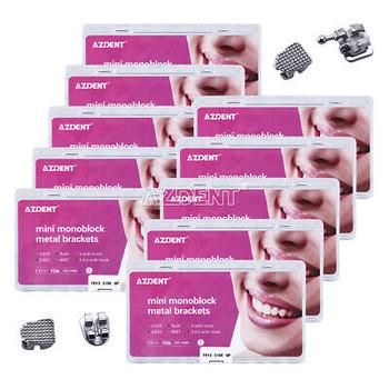 100 Boxes Dental Orthodontic Monoblock Bracket Mini Roth.022 3-4-5 Hooks Azdent