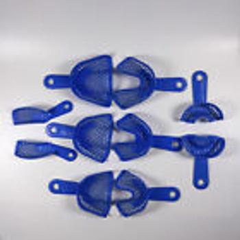 Dental Impression Trays Plastic Steel Quadrant Anterior Bridge Crown L-M-S-Q-A
