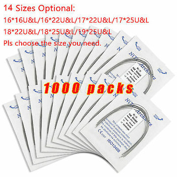 1000 Packs Dental Heat Thermal Activated Niti Rectangular Arch Wire Uox.P