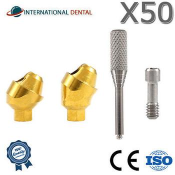 Lot Of 50 Angled Multi Unit Abutment 30?? Dental Implant Internal Hex For Dentist