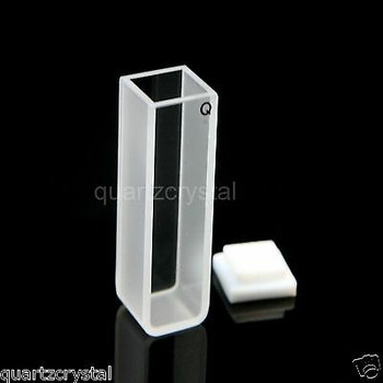 50Pcs Quartz Cuvettes + 10Pcs Fluorescence Quartz Cuvette 10Mm, 3.5 Ml