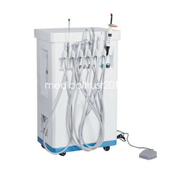Dental Mobile Delivery Cart Turbine Unit +Compressor Curing Light Scaler Syringe