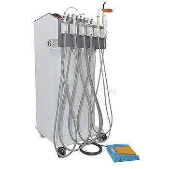 Mobile Dental Delivery Units Cart Treatment Equipment Compressor Scaler Syringe