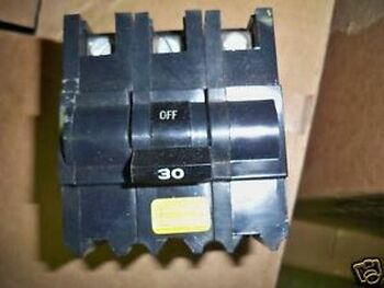 FPE Circuit Breaker Type NB 30A 3P 240V Bolt-On Used