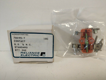 RELIANCE ELECTRIC AUXILIARY CONTACT 78095-T
