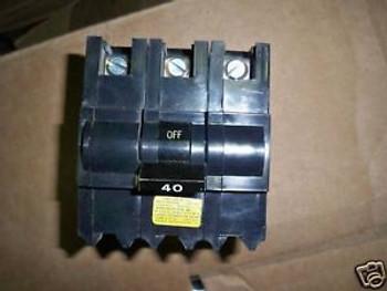 FPE Circuit Breaker Type NB 40A 3P 240V Bolt-On Used
