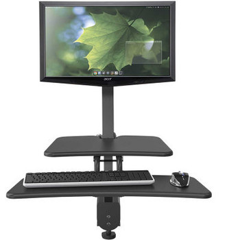 Balt Up-Rite Desk Mounted Sit/Stand Workstation With Single Monitor Mount