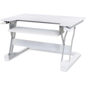 Ergotron Workfit-T Sit-Stand Desktop Workstation, White