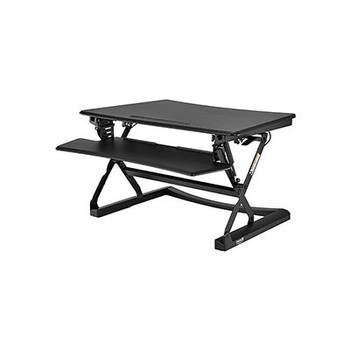 Interion Height Adjustable Sit-Stand Desk Converter With Full Width Keyboard