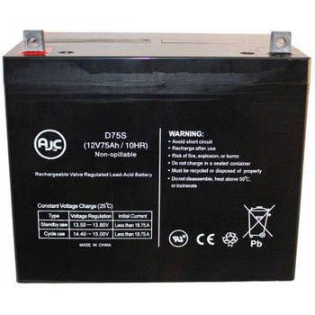 AJC- Shoprider 888WHD 12V 75Ah Scooter Battery
