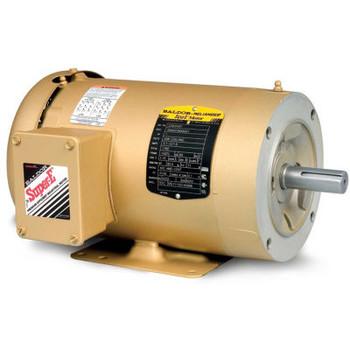 Baldor-Reliance 3-Phase Motor, CEM3558T-5, 2 HP, 1755 RPM, 143TC Frame, C-Face Mount, tefc,575 Volts