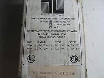 (Q8-3) 1 TOKISTAR LOW-VOLTAGE LIGHTING TRANSFORMER T24/250
