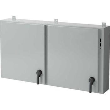 Hoffman A48X2E7812, Disc. Encl, 2 Door, 48.00X78.50X12.00, Steel/Gray