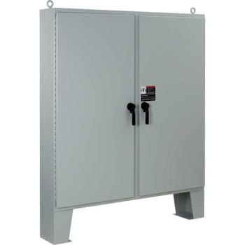 Hoffman A74H6012LP3PT, 2 Door W/3 Pt. Latches & Floor Stands, Type 4, 74.06X60.06X12.06