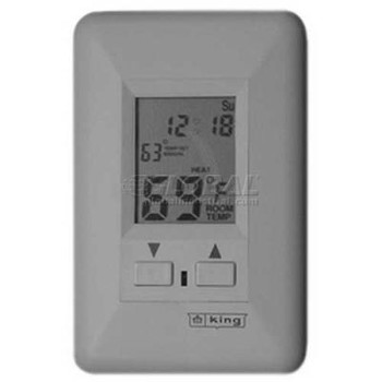 King Electronic Programmable Digital Thermostat ESP230-R, 22 Amp, White