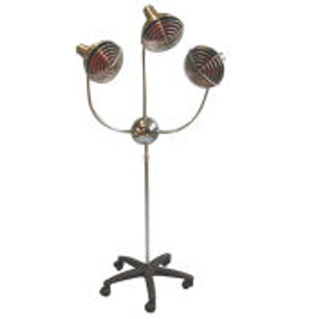 3-Head Infra-Red Lamp with Timer and Mobile Base, 525 Watt