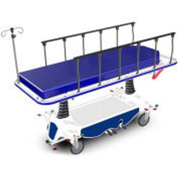 "NK Medical Hydraulic Transport Stretcher NK8002, 4 "" Mattress, 8 "" Locking Casters"