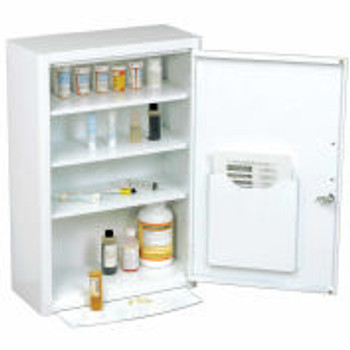 "Global Industrial™Medicine Cabinet with Pull-Out Shelf, 18 ""W x 8 ""D x 27 ""H, White"