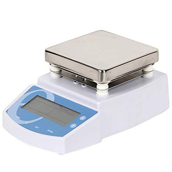 HayWHNKN 110V Magnetic Stirrer with Stainless Steel Lab Hotplate, Stirring Bar,LED Digital