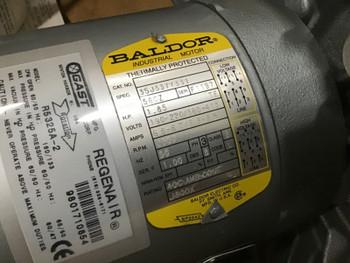 GAST BALDOR REGENAIR BLOWER R5325A-2 208-460V 1.85HP 190-220/380-415 3PH