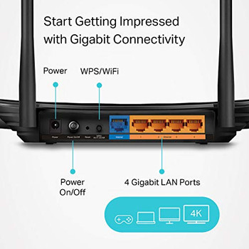 TP-Link AC1200 Gigabit WiFi Router (Archer A6) - 5GHz Dual Band Mu-MIMO Wireless Internet Router, Supports Guest WiFi and AP mode, Long Range Coverage