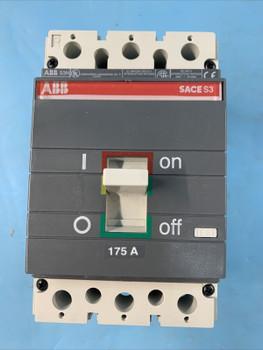 Abb S3N175Tw 175 A Circuit Breaker 600V 3P S3 N 225 Frame