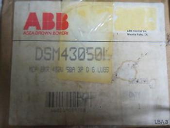 (Q5-4) 1 ABB UBAX 727131 R 709 3 POLE 480VAC 50AMP CIRCUIT BREAKER