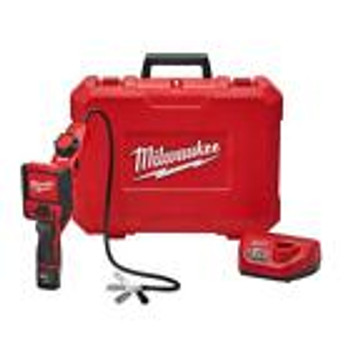 Milwaukee Inspection Camera Cable Pivot View Kit Lcd Display Battery Cordless