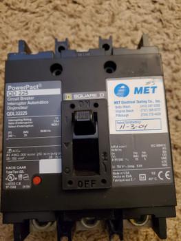 """5029 MP Square""""D""""QDL32225 Circuit Breaker 225A 3P 240V Power Pact QD 225"""