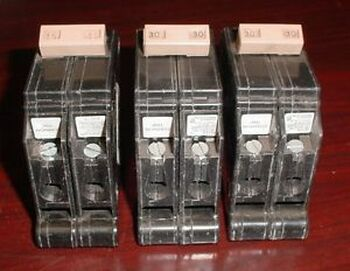 (3) CUTLER-HAMMER M1641 CTL-TYPE CH 2 POLE CIRCUIT BREAKERS