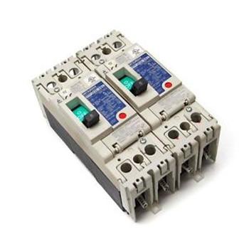 (2) Mitsubishi NF50-SWU No-Fuse 5A Circuit Breakers 240VAC 2-Pole SWU2