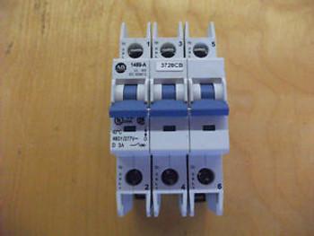 (1) Allen Bradley 1489-A Circuit Breaker 3 Amp 3-Pole AB-5329