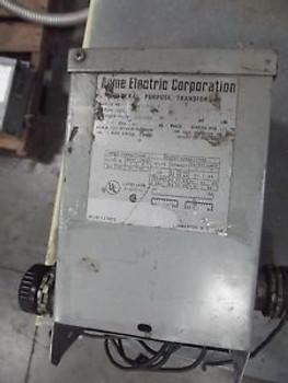 ACME 1.0KVA Transformer T-2-53110  Single Phase HV600-LV 120/240