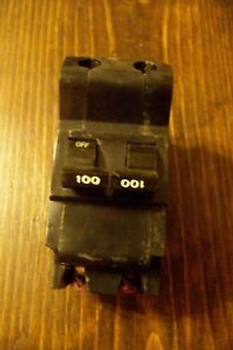 FPE 100 AMP 2 POLE MAIN CIRCUIT BREAKER TYPE NB BOLT-ON WORKING