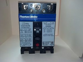 THOMAS & BETTS 480 VAC 50 Amp 3-POLE CIRCUIT BREAKER FS340050A PULLOUTS